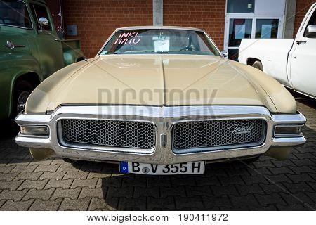 PAAREN IM GLIEN GERMANY - JUNE 03 2017: Full-size personal luxury car Oldsmobile Toronado 1968. Exhibition