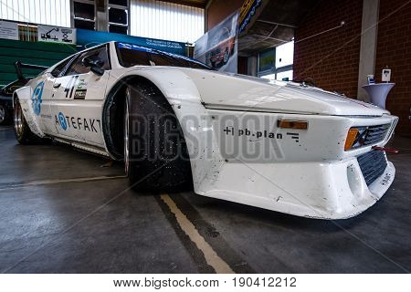 PAAREN IM GLIEN GERMANY - JUNE 03 2017: Sports car BMW M1 (E26). Exhibition