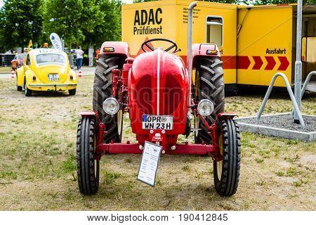 PAAREN IM GLIEN GERMANY - JUNE 03 2017: Tractor Porsche Diesel Type 216 1961. Exhibition