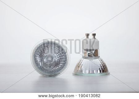 Two Low Voltage Halogen Lamps