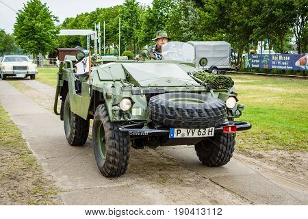 PAAREN IM GLIEN GERMANY - JUNE 03 2017: Military vehicles Volvo L3304 1963. Exhibition