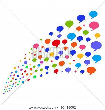 Fountain of balloon symbols. Vector illustration style is flat bright multicolored iconic balloon symbols on a white background. Object fountain combined from design elements.