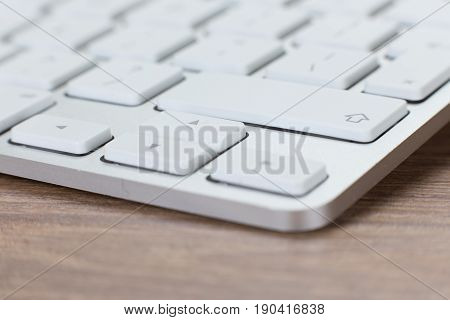 Low Angle View Of A Laptop Keyboard