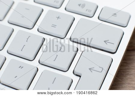 Close Up Detail Of A White Laptop Keyboard