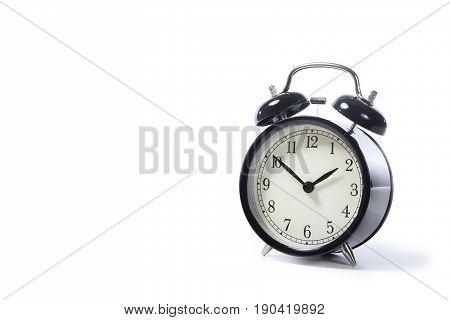 Black Metal Retro Style Alarm Clock With Bells