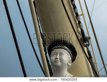 Galionsfigur, Figur, Statue, Schiffbug, Segelschiff, Schiff, Abstrakt,