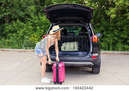 Vacation, Travel - woman ready for the travel for summer vacation