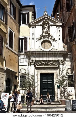 Rome, Italy - April 15, 2017: church in center of Rome, Italy.