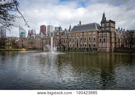 The Binnenhof (House of Parliament) in the Hague (Den Haag). Netherlands.