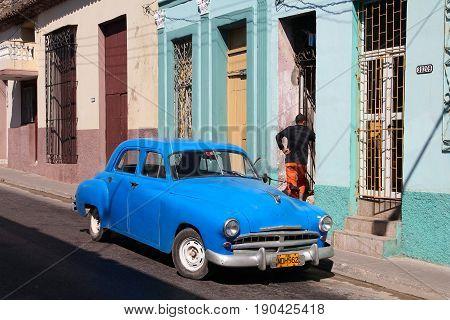 Old Car In Cuba