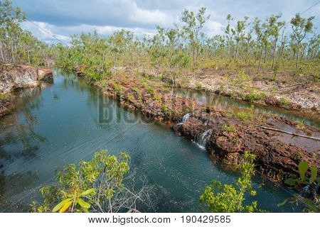 Giddy river in Gove Peninsula, Northern Territory state of Australia.