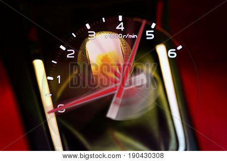 Gear stick for manual transmission for driving in car. automotive part concept. 3d illustration design.