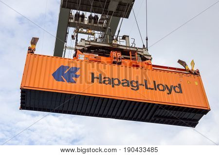 Crane Operator Shipping Cargo Container