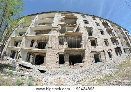 Urban decay.Kazakhstan.May 8, 2017.Sary Shagan.Kazakhstan