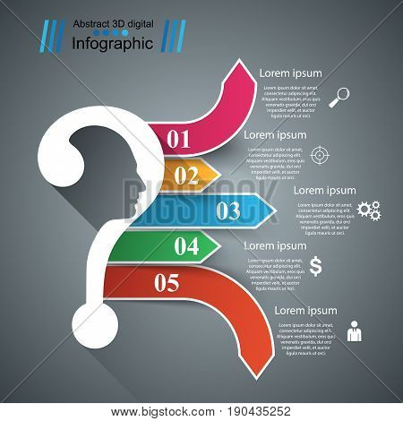 Business infographics. Question mark. Marketing color icon
