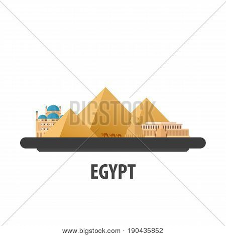 Egypt Travel Location. Vacation Or Trip And Holiday.