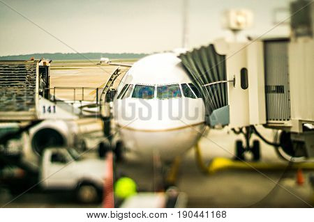 many traveling scenes at an american airport