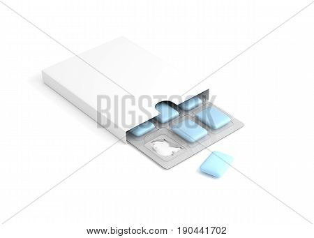 Chewing gum Isolated on white background. 3D illustration