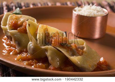 Tortellini With Pomodoro Sauce