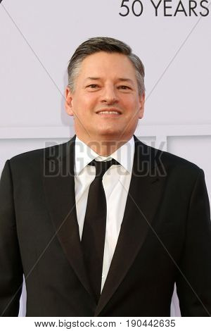 LOS ANGELES - JUN 8:  Ted Sarandos at the American Film Institute's Lifetime Achievement Award to Diane Keaton at the Dolby Theater on June 8, 2017 in Los Angeles, CA