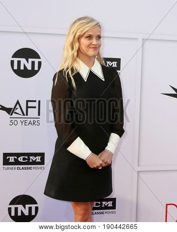 LOS ANGELES - JUN 8:  Reese Witherspoon at the American Film Institute's Lifetime Achievement Award to Diane Keaton at the Dolby Theater on June 8, 2017 in Los Angeles, CA