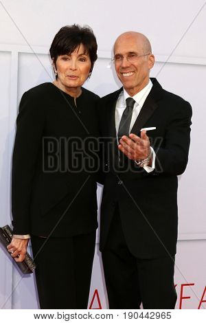 LOS ANGELES - JUN 8:  Marilyn Katzenberg, Jeffrey Katzenberg at the American Film Institute's Lifetime Achievement Award to Diane Keaton at the Dolby Theater on June 8, 2017 in Los Angeles, CA