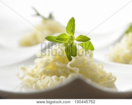 close up of chinese noodle