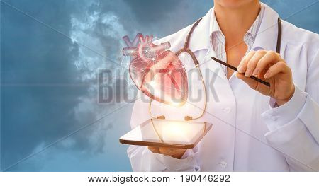 A Cardiologist Demonstrates The Heart .