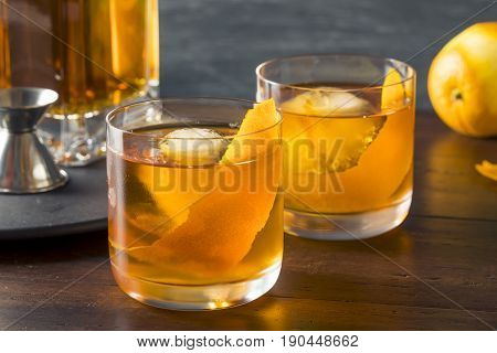 Homemade Boozy Old Fashioned Cocktail