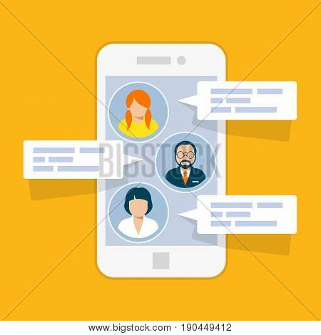 Sms chat interface - short messages on smartphone