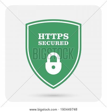 Https secure website - Ssl certificate shield with padlock
