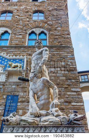 Statue On The Piazza Della Signoria, Florence