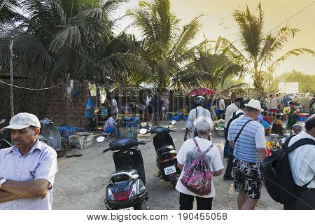 Market In Goa Selling And Buying Fresh Fish In Ice Packs