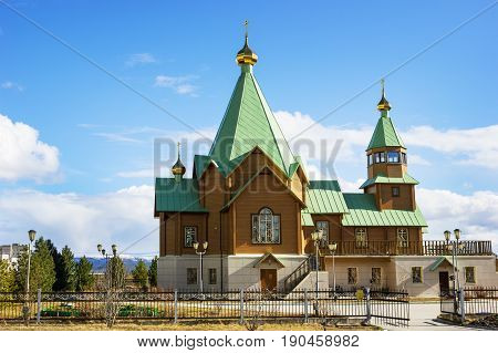 New  Temple In City Of Polyarnye Zori. Murmansk Region. Russia