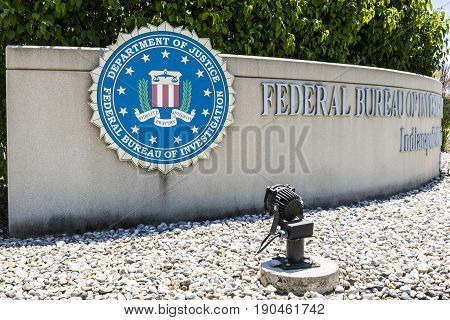 Indianapolis - Circa June 2017: Federal Bureau of Investigation Indianapolis Division. The FBI is the prime federal law enforcement agency in the US II