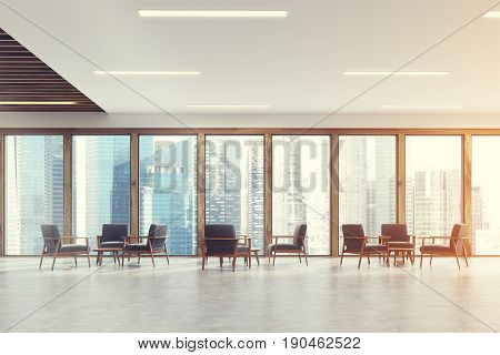 Panoramic Office Waiting Room, Light Toned