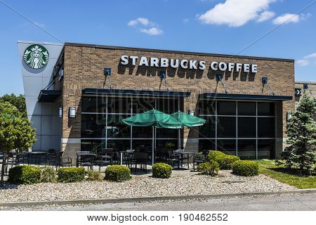 Indianapolis - Circa June 2017: Starbucks Retail Coffee Store. Starbucks Inclusion Academy prepares people with disabilities for retail jobs