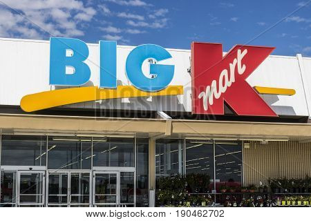 Indianapolis - Circa May 2017: Kmart Big K Retail Location. Many Kmart and Sears stores are closing in an effort to bring the company back to profitability