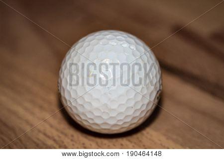 Golfball on the wood, green, golf, sport