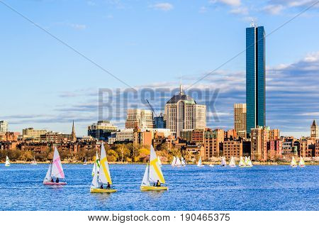 Boston, Massachusetts, USA skyline at Back Bay.