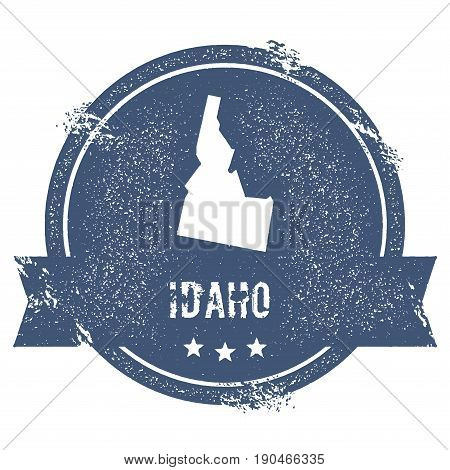 Idaho Mark. Travel Rubber Stamp With The Name And Map Of Idaho, Vector Illustration. Can Be Used As