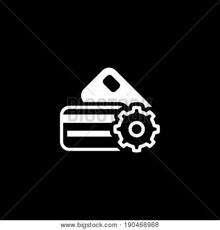Credit Card Processing Icon. Flat Design. Business Concept. Isolated Illustration.