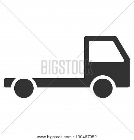 Truck Chassis vector icon. Flat gray symbol. Pictogram is isolated on a white background. Designed for web and software interfaces.