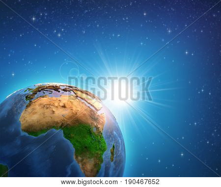 Sunrise Over African Earth