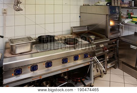 Typical professional kitchen interior