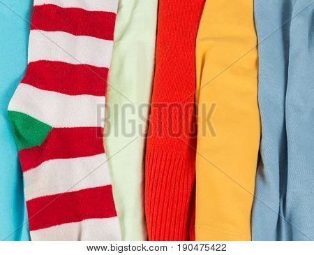 Many Colorful Fabric Cloth Textures With Patterns Background