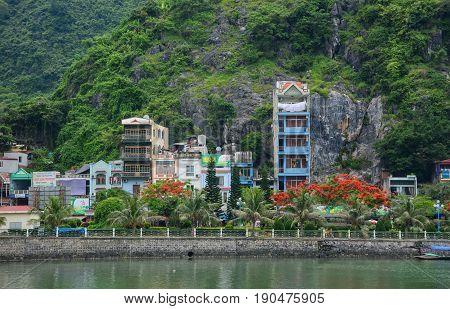 Cityscape Of Cat Ba Island In Vietnam