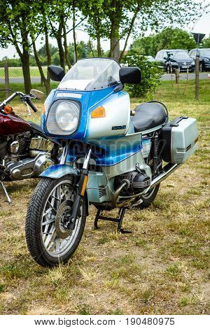 PAAREN IM GLIEN GERMANY - JUNE 03 2017: Motorcycle BMW R100 RS. Exhibition
