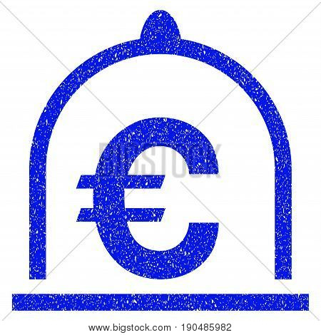 Grunge Euro Standard icon with grunge design and scratched texture. Unclean vector blue pictogram for rubber seal stamp imitations and watermarks. Draft sticker symbol.