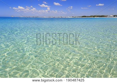 The most beautiful sandy beaches of Apulia:Porto Cesareo marine,Salento coast.ITALY ,Lecce.It's marine protected areas thanks to the high biological value of its very rich and varied marine community.